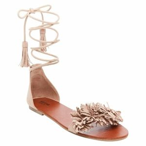Mossimo Lace Up Flat Sandals size 10 NEW
